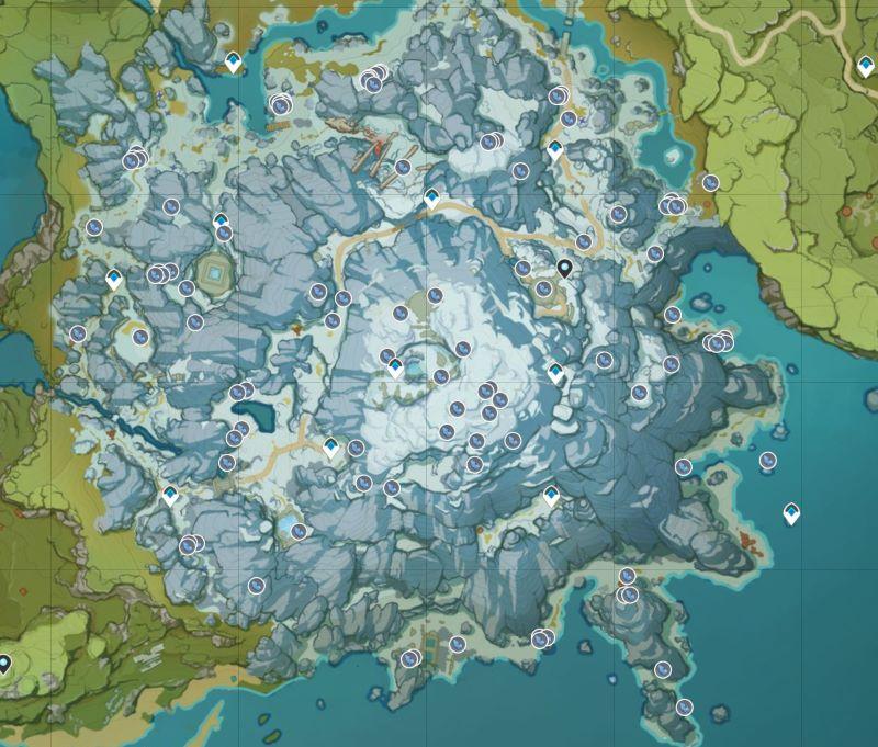 ドラゴンスパイン地方の星銀鉱石の採掘場所マップ(完全版)