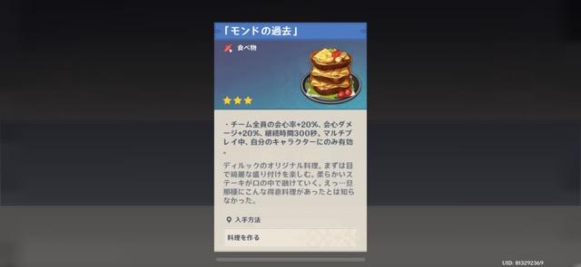 モンドの過去_オリジナル料理
