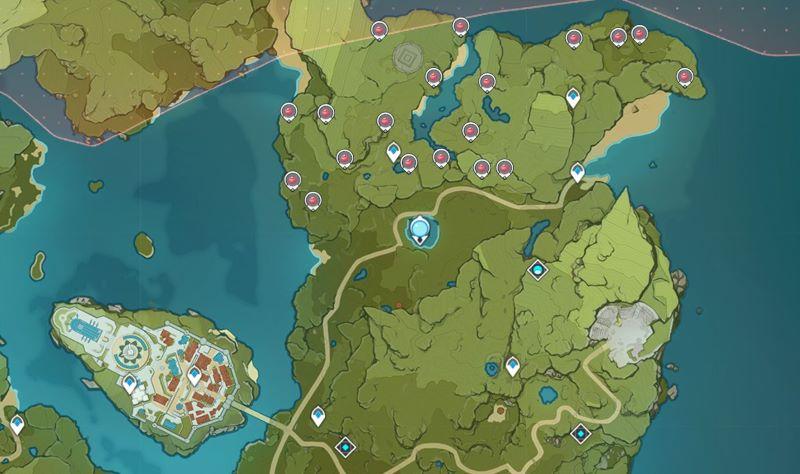 ロサリアのレベル突破素材「ヴァルベリー」の入手場所はモンド北部のみ