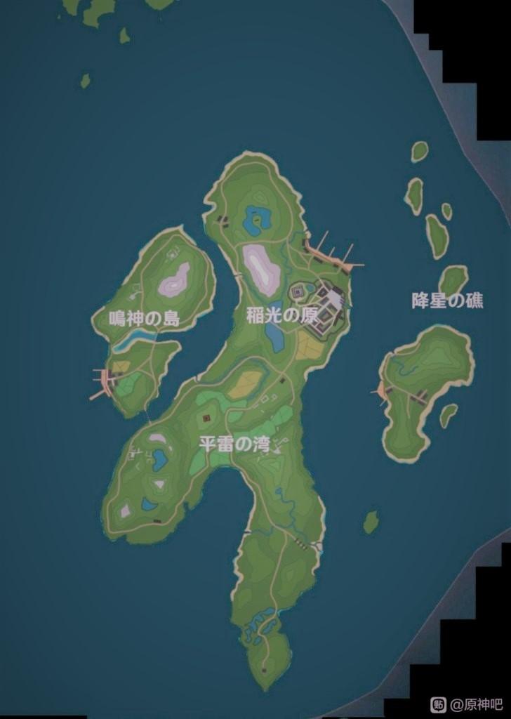 稲妻地方のマップ詳細