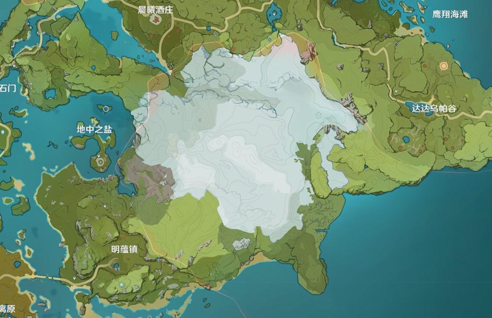 稲妻地方のマップ