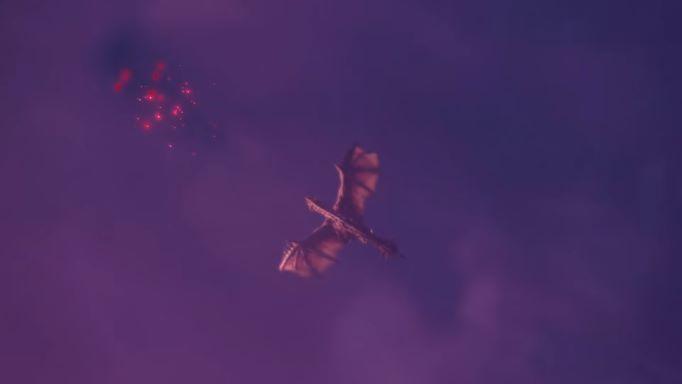 ★謎の赤い光を追いかけるレウス君